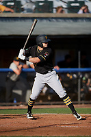 Bristol Pirates designated hitter Brendt Citta (17) at bat during the first game of a doubleheader against the Bluefield Blue Jays on July 25, 2018 at Bowen Field in Bluefield, Virginia.  Bluefield defeated Bristol 6-3.  (Mike Janes/Four Seam Images)