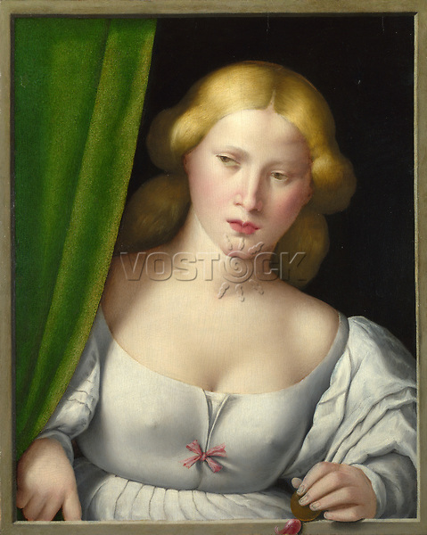 Full title: Woman at a Window<br /> Artist: Italian, North<br /> Date made: probably 1510-30