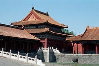 China, Kaiserpalast von Peking, beim Tor der höchsten Harmonie, Unesco-Weltkulturerbe