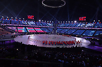 OLYMPIC GAMES: PYEONGCHANG: 09-02-2018, PyeongChang Olympic Stadium, Olympic Games, Opening Ceremony, Team Norway, ©photo Martin de Jong