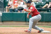 Stavinoha, Nick 0094.jpg. Memphis Redbirds at Round Rock Express in Pacific Coast League Baseball. Dell Diamond on April 26th 2009 in Round Rock, Texas. Photo by Andrew Woolley.