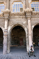 Western portico (1164) of the Great Mosque of Diyarbakir, southeastern Turkey