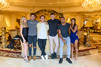 LAS VEGAS, NV - July 15, 2021: Hannah Godwin, Dylan Barbour, James Rowe, Katie Morton, Blake Horstmann, Clay harbor pictured in a Villa at Westgate Las Vegas Resort & Casino in Las Vegas, NV on July 15, 2021. <br /> CAP/MPI/GDP<br /> ©GDP/MPI/Capital Pictures