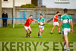 Listrys Anthony Sweeney been well marshalled by Kieran O'Donnell of Brosna in the Junior Premier Football Championship quarter final.