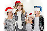 WATERBURY, CT- 10 December 2015-121015EC24-  Christmas Kids North. The Maiga sisters are from Torrington. Ashley and Samantha are 8, Jessica is 11 and Taylor is 5. Erin Covey Republican-American