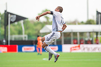LAKE BUENA VISTA, FL - JULY 9: Alejandro Bedoya #11 of the Philadelphia Union celebrates a goal during a game between New York City FC and Philadelphia Union at Wide World of Sports on July 9, 2020 in Lake Buena Vista, Florida.
