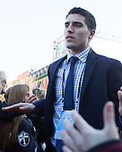 Brandon Tanev (PC - 22) - The teams walked the red carpet through the Fan Fest outside TD Garden prior to the Frozen Four final on Saturday, April 11, 2015, in Boston, Massachusetts.