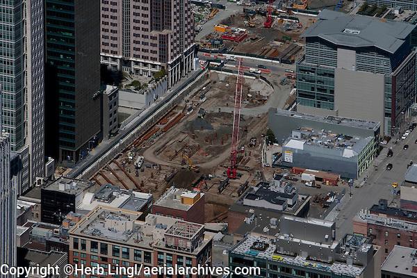 aerial photograph TransBay construction San Francisco, California