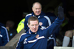 St Johnstone v Hearts.....18.01.14   SPFL<br /> Gary Locke and Billy Brown acknowledge the Hearts fans<br /> Picture by Graeme Hart.<br /> Copyright Perthshire Picture Agency<br /> Tel: 01738 623350  Mobile: 07990 594431