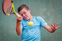 Hilversum, Netherlands, August 8, 2018, National Junior Championships, NJK, Daniel Verbeek (NED)<br /> Photo: Tennisimages/Henk Koster