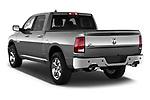 Rear three quarter view of a 2013 Dodge RAM 1500 Big Horn Crew Cab