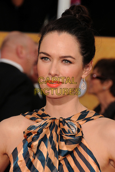 18 January 2014 - Los Angeles, California - Lena Headey. 20th Annual Screen Actors Guild Awards - Arrivals held at The Shrine Auditorium. Photo Credit: Byron Purvis/AdMedia<br /> CAP/ADM/BP<br /> ©Byron Purvis/AdMedia/Capital Pictures