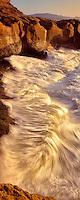 Shoreline waves near Devil's Punchbowl, Oregon