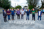 Speakers in attendance at the meeting in Castleisland on Thursday evening, to discus the concerns of local residents and businesses with the published plans by Kerry County Council for the installation of a new pedestrian crossing and 4 bus parking spaces at Upper Main Street, Castleisland. L to r: Michael Healy-Rae (TD), Pa King, Councillor Fionnán Fitzgerald, John Lyons, Councillor Bobby O'Connell, Councillor Charlie Farrelly, Jackie Brosnan and Councillor Jackie Healy-Rae.