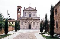 Montebello della Battaglia, paese in provincia di Pavia. La Chiesa dei Santi Gervasio e Protasio --- Montebello della Battaglia, village in the province of Pavia. The church of Saints Gervaso and Protasio