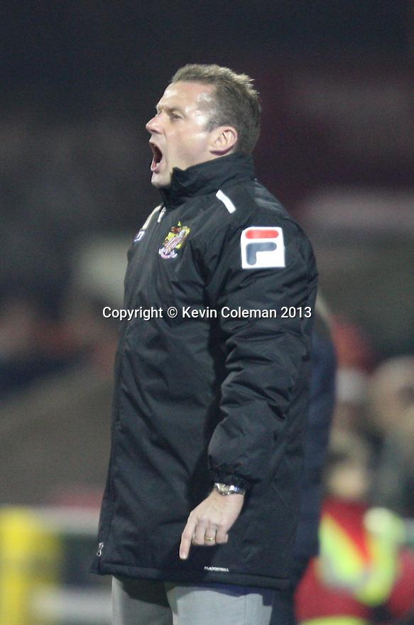 Stevenage manager Graham Westley<br />  - Swindon Town v Stevenage - Johnstone's Paint Trophy - Southern Section Semi-final  - County Ground, Swindon - 10th December, 2013<br />  © Kevin Coleman 2013