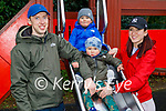 Enjoying the playground in the Killarney National park on Sunday, l to r: Denis, Marcus, Ryan and Laura Kizjalo.