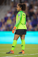 Orlando, FL - Saturday March 24, 2018: Utah Royals goalkeeper Abby Smith (1) during a regular season National Women's Soccer League (NWSL) match between the Orlando Pride and the Utah Royals FC at Orlando City Stadium. The game ended in a 1-1 draw.