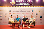 (L-R) Luis Garcia, Tenniel Chu, Robbie Fowler, David May during the Football Players Press Conference on the sidelines of the World Celebrity Pro-Am 2016 Mission Hills China Golf Tournament on 22 October 2016, in Haikou, China. Photo by Weixiang Lim / Power Sport Images