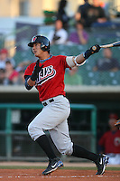 April 19 2009: Kuo Hui Lo of the High Desert Mavericks bats against the Lancaster JetHawks at Clear Channel Stadium in Lancaster,CA.  Photo by Larry Goren/Four Seam Images