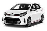 2020 KIA Picanto GT-Line 5 Door Hatchback Angular Front automotive stock photos of front three quarter view