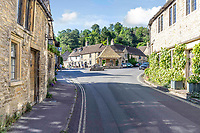 BNPS.co.uk (01202 558833)<br /> Pic: Strutt&Parker/BNPS<br /> <br /> Pictured: Number 2 School Lane is in the highly sought after Wiltshire village of Castle Combe.<br /> <br /> An 18th century cottage in 'the prettiest village in England' is on the market for £675,000.<br /> <br /> Number 2 School Lane is Grade II listed, built with beautiful Cotswold stone and filled with character features like exposed timber beams and original fireplaces.<br /> <br /> The attractive three-bedroom property is in the highly sought after Wiltshire village of Castle Combe.<br /> <br /> The quintessentially English village has been used regularly as a film location and the houses are mostly made with honey-coloured Cotswold stone.