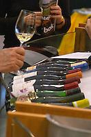 Wine tasting. Wine shop. ViniPortugal's tasting room. Lisbon, Portugal