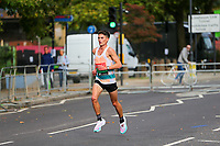 3rd October 2021; London, England: The Virgin Money 2021 London Marathon: Philip Sesemann of Great Britain running on Butcher Row, Limehouse between mile 21 and 22 starting towards central London and the finish.