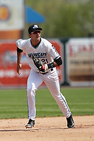 West Michigan Michigan Whitecaps shortstop Daniel Pinero (21) on defense against the Fort Wayne TinCaps during the Midwest League baseball game on April 26, 2017 at Fifth Third Ballpark in Comstock Park, Michigan. West Michigan defeated Fort Wayne 8-2. (Andrew Woolley/Four Seam Images)