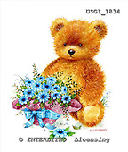 GIORDANO, CUTE ANIMALS, LUSTIGE TIERE, ANIMALITOS DIVERTIDOS, Teddies, paintings+++++,USGI1834,#AC# teddy bears