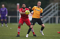 Rickie Hayles of Hornchurch and Scott Rendell of Maidstone during Hornchurch vs Maidstone United, Buildbase FA Trophy Football at Hornchurch Stadium on 6th February 2021