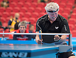 Toronto, ON - Aug 9 2015 -  Ian Kent competes in the Men's Singles Class 8 quarterfinal in the ATOS Markham Parapan Centre during the Toronto 2015 Parapan American Games  (Photo: Matthew Murnaghan/Canadian Paralympic Committee)