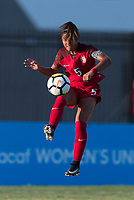 Bradenton, FL - Sunday, June 12, 2018: Kennedy Wesley during a U-17 Women's Championship Finals match between USA and Mexico at IMG Academy.  USA defeated Mexico 3-2 to win the championship.