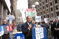 """Move your money protest at Bank of America 6 Tremont Street Boston MA 11.17.10- the Greater Boston Interfaith Organization lined up at Bank of America to tell the banks, """"We're bailing ourselves out"""" by moving our money out of those banks that continue to charge usurious interest.On the 2nd anniversary of when Troubled Assets Relief Program (TARP) injected $33 billion of taxpayer money to rescue big banks like Bank of America, bringing the total payout up to that date to $158.56 billion, individuals and congregations went into the bank to close over 100 bank accounts and tell the bank they will continue to close accounts until banks agree to respect the local Massachusetts interest rate cap of 18%."""