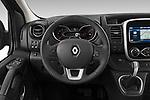 Car pictures of steering wheel view of a 2020 Renault Trafic Space Class 4 Door Passenger Van