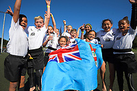 Fiji / Auckland celebrate winning the final on day two of the 2019 Air NZ Rippa Rugby Championship at Wakefield Park in Wellington, New Zealand on Tuesday, 27 August 2019. Photo: Dave Lintott / lintottphoto.co.nz