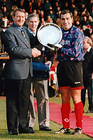 Leyton Orient goalkeeper Peter Shilton receives a pre-match presentation on the occasion of his 1000th Football League appearance ahead of Leyton Orient vs Brighton & Hove Albion, Nationwide League Division Three Football at Brisbane Road on 22nd December 1996
