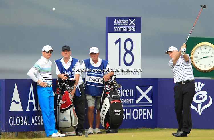 Philip Price (WAL) during the third round of the 2012 Aberdeen Asset Management Scottish Open being played over the links at Castle Stuart, Inverness, Scotland from 12th to 15th July 2012:  Stuart Adams www.golftourimages.com:14th July 2012