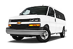 Stock pictures of low aggressive front three quarter view of a 2014 Chevrolet Express 2500 LS 2 Door Van