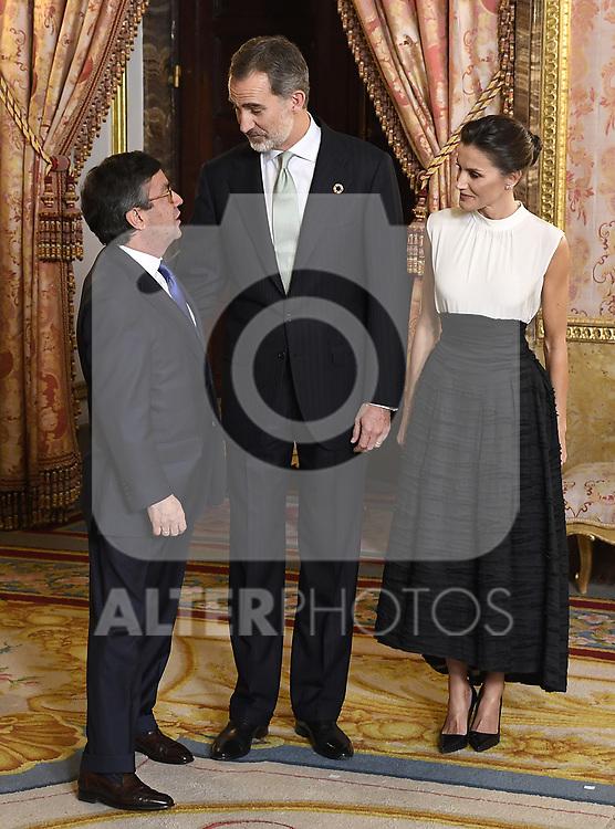 King Felipe VI of Spain and Queen Letizia of Spain receive COP25 participants at the Royal Palace. December 2,2019. (ALTERPHOTOS/Pool/Carlos Alvarez)