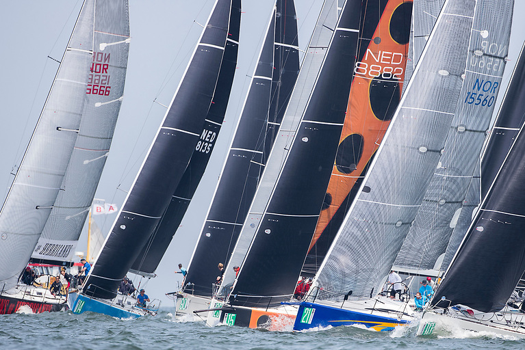 Yachts prepare to start in a previous combined IRC/ORC Championships