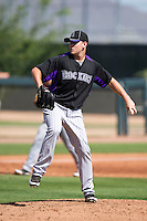Colorado Rockies minor league pitcher Tyler Matzek #22 during an instructional league intrasquad game at the Salt River Flats Complex on October 5, 2012 in Scottsdale, Arizona.  (Mike Janes/Four Seam Images)