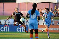 Whitney Engen (23) of the Western New York Flash. The Western New York Flash defeated Sky Blue FC 4-1 during a Women's Professional Soccer (WPS) match at Yurcak Field in Piscataway, NJ, on July 30, 2011.