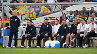 USA manager Bob Bradley looks on. Brazil defeated USA 3-0 during the FIFA Confederations Cup at Loftus Versfeld Stadium in Tshwane/Pretoria, South Africa on June 18, 2009.
