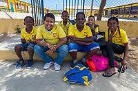 Kralendijk, Bonaire, Leeward Antilles.  Papiamento School Children, Grades 2-5.