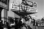 Gallup New Mexico USA 1971. The Chief Cinema is showing the films. The Legend of Nigger Charlie and Cry Blood Apache.