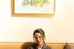 March 20, 2014. Durham, North Carolina.<br />  MERGE Records co-founder Laura Ballance at MERGE HQ.