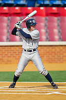 Andy Lentz #7 of the Georgetown Hoyas at bat against the Delaware State Hornets at Gene Hooks Field on February 26, 2011 in Winston-Salem, North Carolina.  Photo by Brian Westerholt / Four Seam Images