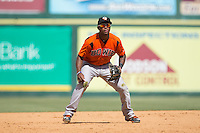 Bowie Baysox third baseman Sharlon Schoop (5) on defense against the Richmond Flying Squirrels at The Diamond on May 24, 2015 in Richmond, Virginia.  The Flying Squirrels defeated the Baysox 5-2.  (Brian Westerholt/Four Seam Images)