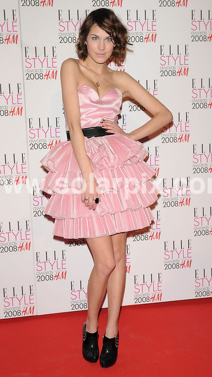 **ALL ROUND PICTURES FROM SOLARPIX.COM**.**WORLDWIDE SYNDICATION RIGHTS**.Celebrities arrive for the Elle Style Awards at The Roundhouse, London. 12th February 2008..This pic: Alexa Chung..JOB REF: 5777 ATM     DATE: 12_02_2008.**MUST CREDIT SOLARPIX.COM OR DOUBLE FEE WILL BE CHARGED* *UNDER NO CIRCUMSTANCES IS THIS IMAGE TO BE REPRODUCED FOR ANY ONLINE EDITION WITHOUT PRIOR PERMISSION*